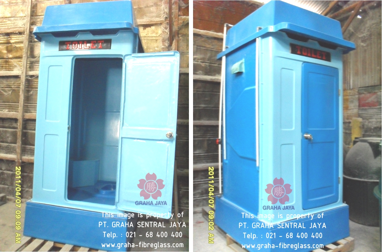 Portable Toilet Exhibition : Portable toilet flexible fibreglass untuk acara